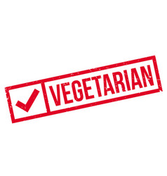 vegetarian rubber stamp vector image vector image