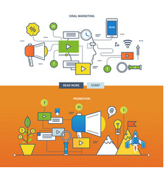 Viral marketing and advertising promotion of good vector