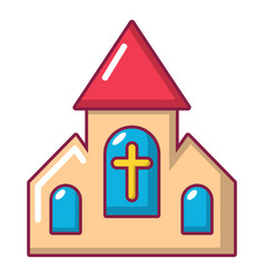 Wedding church icon cartoon style vector