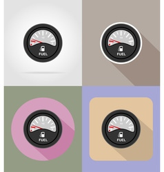 car equipment flat icons 13 vector image