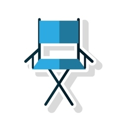 Isolated directors chair design vector