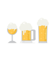 Set of beer icons beer bottle glass pint vector