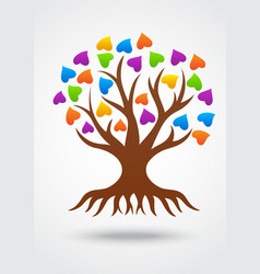 Stylized love tree made of hearts vector image