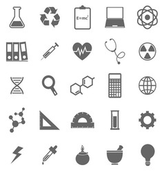 Science icons on white background vector image