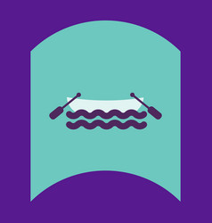 Flat icon design collection boat in sea vector