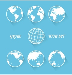 Vecrot globe icon set modern flat style vector