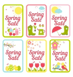 Collection of designs for spring sale signs vector