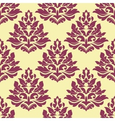 Retro maroon crimson or dark red seamless pattern vector