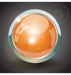 Orange button vector image