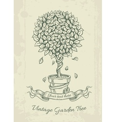 Hand drawn vintage garden vector