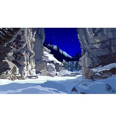 Cliffs in winter vector
