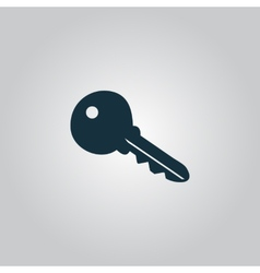 Key symbol isolated on background vector