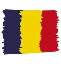 Flag of romania handmade vector