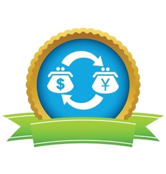 Dollar-yen exchange icon vector