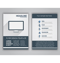 Design business flyers in a flat style vector