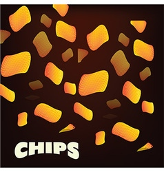 Chips background vector
