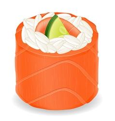 sushi rolls 08 vector image