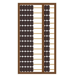 Wooden abacus icon vector