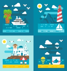 Flat design romantic dating places vector