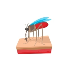 Mosquito on the skin cartoon icon vector image