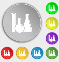 Laboratory glass chemistry icon sign symbol on vector