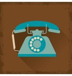 Retro telephone design vector image