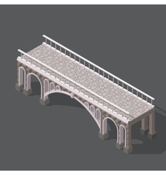 Isometric drawing of a stone bridge vector