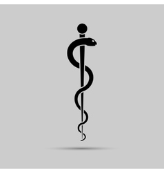 Aesculapius medical symbol or symbol featuring a vector image vector image