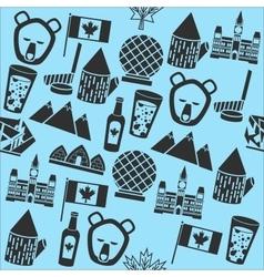Canada symbols pattern vector