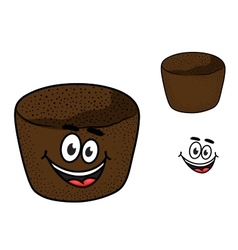 Cartoon rye brown bread vector image vector image