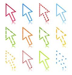 computer arrow2 vector image vector image
