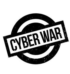 Cyber war rubber stamp vector