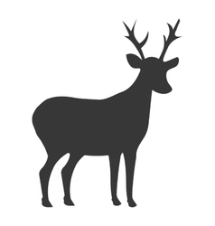 Deer shadow side view graphic vector