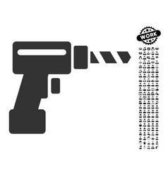 Drill icon with professional bonus vector