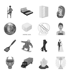 Fashion barbecue space and other web icon in vector