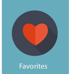 Favorites flat icon concept vector