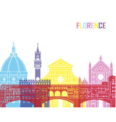 Florence skyline pop vector