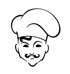 French chef in toque hat vector image vector image