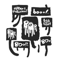halloween slogans in speechbubbles vector image