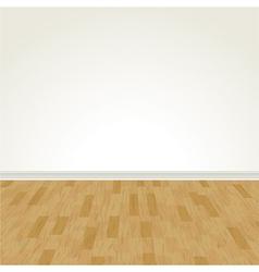 hardwood floor and blank wall vector image