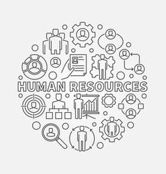 Hr outline vector