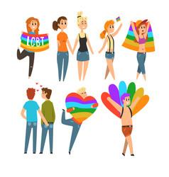 Lgbt people community celebrating gay pride love vector