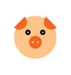 pig cartoon animal head vector image vector image
