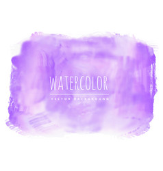 purple real watercolor stain background vector image vector image