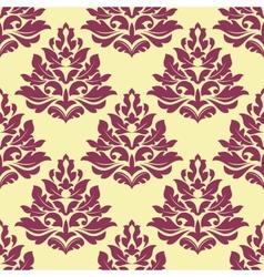 Retro maroon crimson or dark red seamless pattern vector