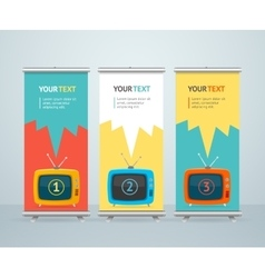 Roll Up Banner Stand Design vector image vector image