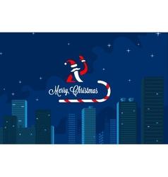 Santas in town vector image vector image