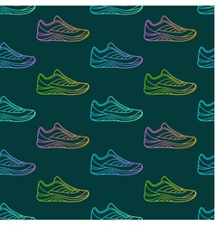 Seamless pattern made of sneakers vector image vector image