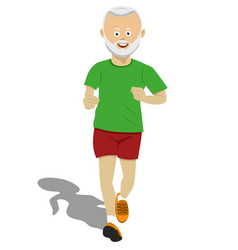 senior man wearing fitness clothing jogging vector image vector image
