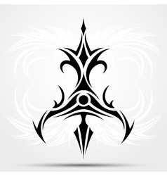 Sharp tribal tattoo vector image vector image